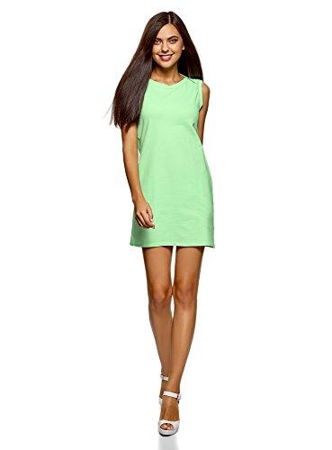 oodji Ultra Mujer Vestido de Tejido Piqué, Verde, ES 42 / L