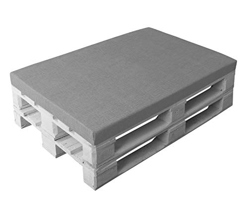 HERLAG Palettenkissen Premium (Sitzpolster, Farbe grau, Reißverschluss, waschbarer Bezug, Maße 120x80x8 cm) P207084-2170