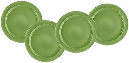 Emile Henry 8-inch Salad/Dessert Plates, Set of 4, Vert