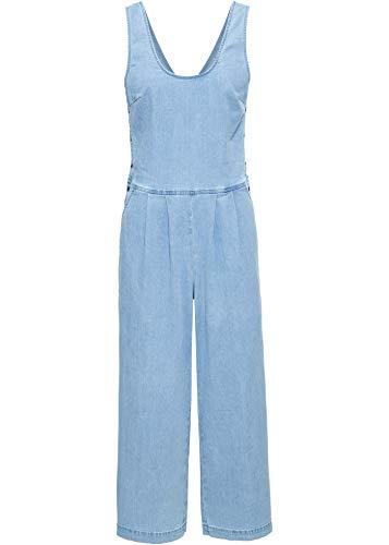 bonprix Cooler Jumpsuit mit Knöpfen Light Blue Bleached 44 für Damen