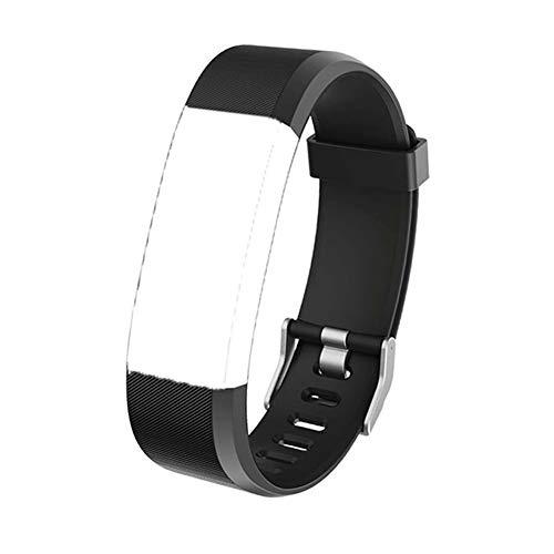 ID 115 Plus HR Armband Ersatz Zubehör TPU Weiches Verstellbares Sport Armband Kompatibel mit Armbanduhr ID115 Plus und ID115plushr Schrittzähler Pulsmesser, Schwarz