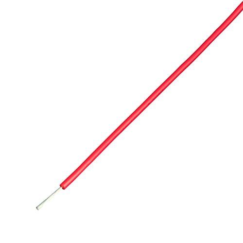 協和ハーモネット UL耐熱ビニル絶縁電線 赤 リール巻 50m UL1015 AWG16 50m<RD>