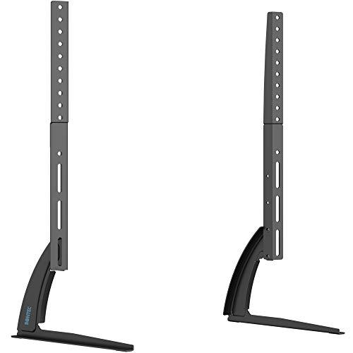 BONTEC Universal TV Ständer für LCD LED 22-65 Zoll Fernseher Tisch Standfuß Fernsehtisch TV Halterung Höhenverstellbar Fernsehstand, bis zu 50KG, Max.VESA 800x400mm