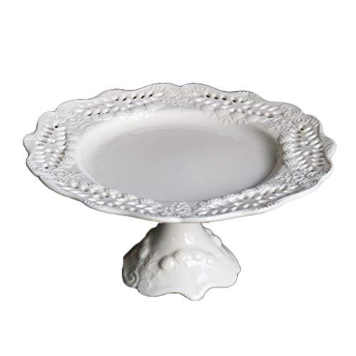 Présentoirs à gâteau Affichage claie décoration creux table dessert plateau gâteau en céramique haut de gâteau blanc casserole carte anniversaire mariage fournitures de fête Halloween