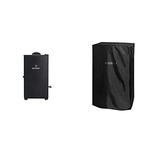 Masterbuilt Digital Electric Smoker | Outdoor, 30-Inch, Black | MB20071117 Model & MB20080319 Electric Smoker Cover, 30 inch, Black