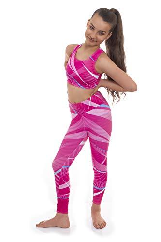 Espirt by Velocity Pro - Conjunto de camiseta y leggings para niñas, ideal para gimnasio, entrenamiento, correr, verano, casual, gimnasia, ropa de yoga