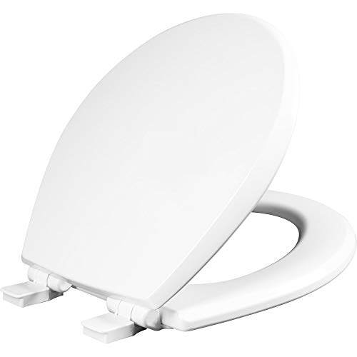 Mayfair 847SLOW 000 Kendall Slow-Close, Removable Enameled Wood Toilet Seat That Will Never Loosen, 1 Pack - ROUND - Premium Hinge, White