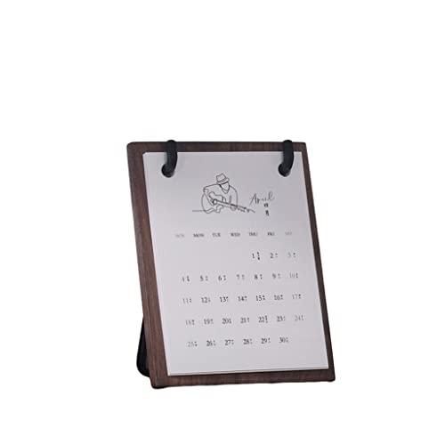 TJUYT Calendar Wooden Desk Calendar...