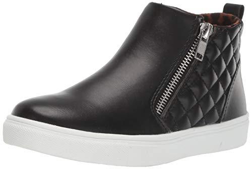Steve Madden Girl's JREGGIE Sneaker, Black, 3 M US Little Kid