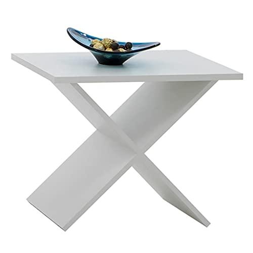 Tavolino da caffè, tavolino laterale Tavolino da cocktail Tavolino da centro Tavolo da divano Tavolino da tè Tavolino da caffè FMD bianco