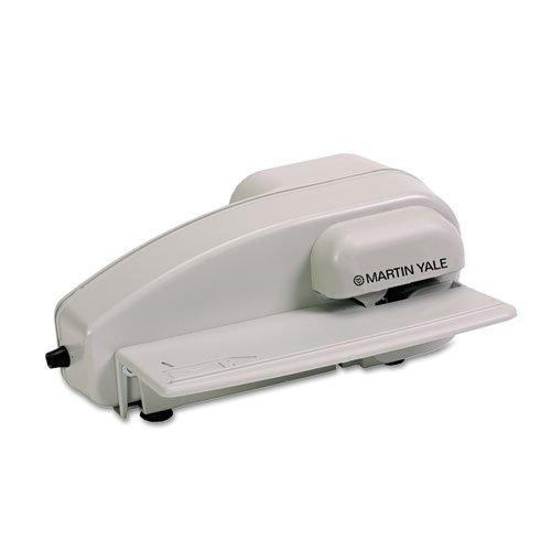 O PREMIER O–Automatischer Elektrischer Brieföffner mit versteckter Klinge, 9–1/2x 7–1/4x 4, grau