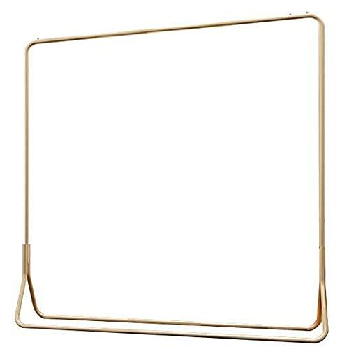 Rieles para Ropa Pesada, Estantes de ExhibicióN de Ropa, Estantes Comerciales Anticuados, Percheros de Metal/dorado / 150×40×150cm