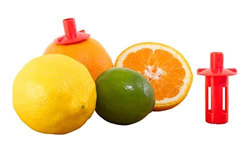 Kitchen + Home Citrus Tap – Portable Lemon Lime Juicer , Orange Citrus Spout and Jalapeño Corer – 3 Pack