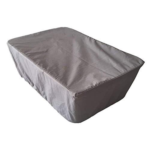 GRW-incatramata Coperture per mobili da giardino Impermeabile Tarpaulin Outdoor Sedia di vimini Cargo Anti-ossidazione antipolvere, 210D, 12 dimensioni, personalizzabile (Colore: GRIGIO, Dimensioni: 2