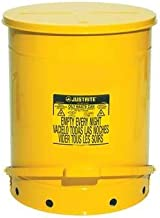 Justrite 21 Gal Oily Waste Can, Yellow - 9701