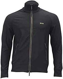 Hugo Boss Zip-Through Sweatshirt in Active-Stretch with S.Cafe