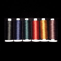 Affordable Valdani 50wt Thread, 6 Variegated Spools, 540 yards each - ''Monarch'' Collection