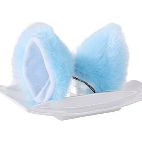 1 par de orejas de gato clip de pelo lindo disfraz de dibujos animados diademas artificiales de pelo largo para mujeres niñas fiesta y decoración diaria