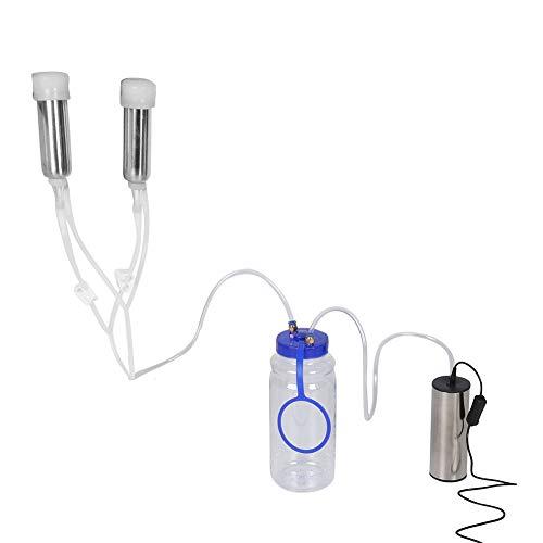 Melkmaschine 2L Elektrische Melkmaschine Tragbare Ziege Melkmaschine Vakuumpumpe Melkmaschine mit Reinigungsbürste für Kuh Order Ziege (für Kuh)