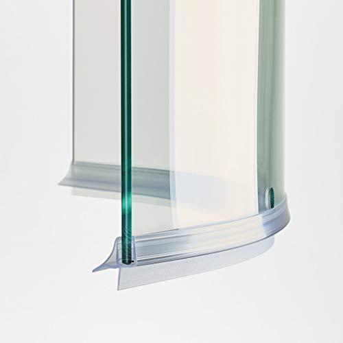 100cm EC-406-18-C Guarnizione Curva Box Doccia con Gocciolatoio per vetri di spessore da 6 e 8 mm