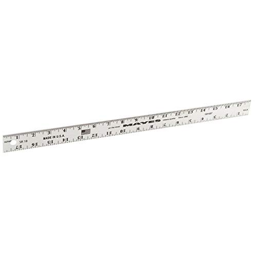 MAYES Level 10187 18' Straight-Edge Ruler, Silver