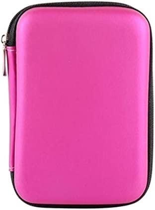 Homyl Shockproof 2 5 Inch External Hard Drive Carry Case HDD Bag Pink product image