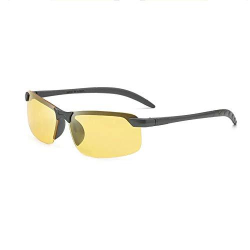 Gafas De Sol Deportivas Polarizadas, Antirreflejos Rectangulares Ligeras, Adecuadas para Montar, Conducir, Pescar, Correr En Bicicleta,Amarillo