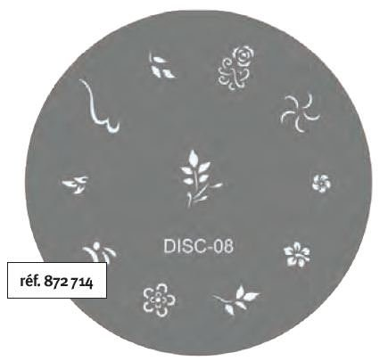 Stamp Tamponage Pochoir Disc-08 - SINA