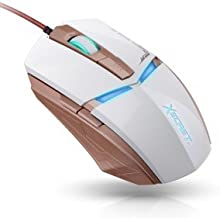 Royche Xg-8500m Gaming Mouse Optical Pc Mice Wired Laptop Usb Game Led Dpi Adjustable 6 Buttons 2400dpi Gamer White Color