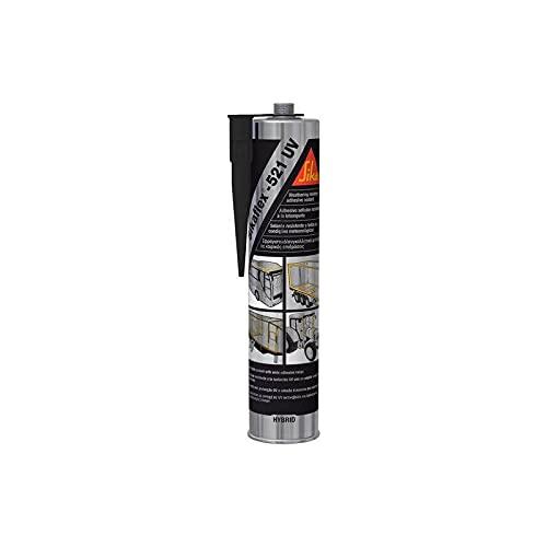 SikaFlex-521 UV - Sigillante resistente ai raggi UV - Sika - Cartuccia da 300 ml, Nero