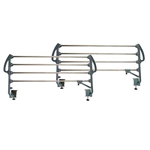 Duérmete Online Juego de Barandillas Metálicas INOX Geriátricas Abatibles Reforzadas para Cama Articulada con 4 Barras, Prácticas y seguras, Universal