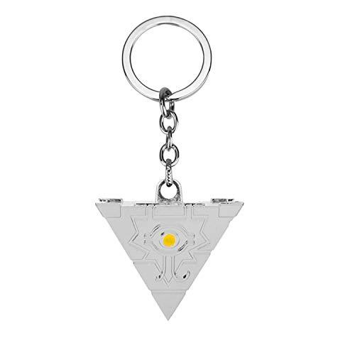YuGiOh Millennium Puzzle Alloy Triangle Pendant Keychain Color-Silver