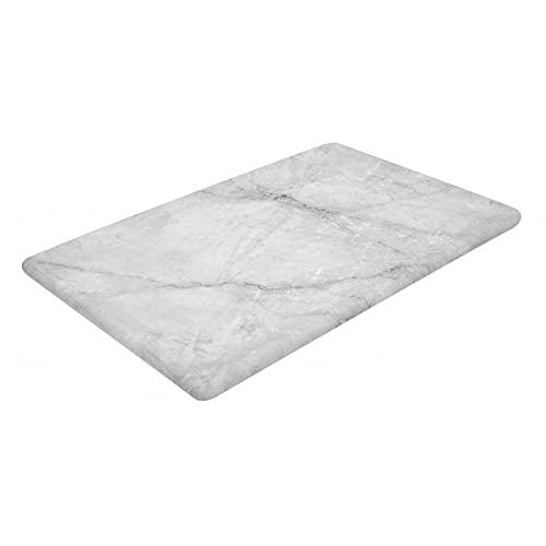 Bandeja rectangular de melamina de imitación mármol con patas de silicona 300 x 200 x 14 mm – L2G – melamina 300