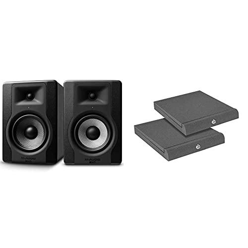 M-Audio BX5 D3 - Coppia Casse Monitor da Studio Attive da 100 W, con Woofer da 5 e Controllo Acoustic Space & Adam Hall Stands Pad Eco Serie spadeco2Absorber per monitor da studio