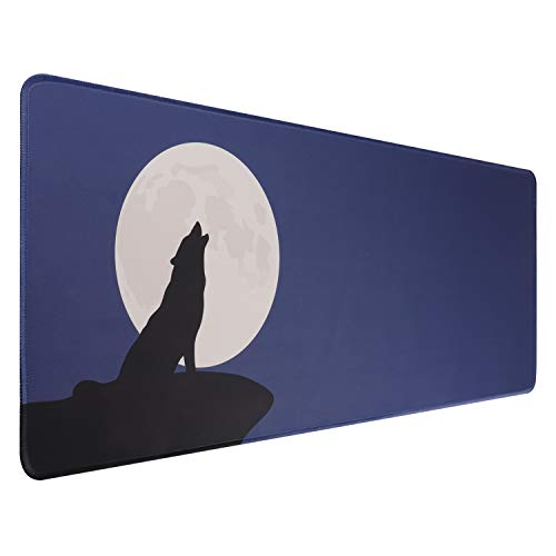 HIHUHEN Large Mouse pad   Gaming Mouse Mat/Mouse Pad (31.5' x 11.8' x 0.12')   Table mat/Improved Precision and Speed (80x30 yue)