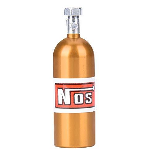 Woyisisi RC Car Lachgas Flasche, Mini NOS Lachgas Flasche Kanister f¨¹r 1/10 Traxxas RC Rock Crawler Axial Car Dekoration(FZ0008Y Gelb)