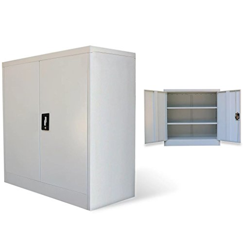 Unfade Memory Office Cabinet Utility Storage Pantry Metal Filing Cabinets with 2 Doors 354 x 157 x 354