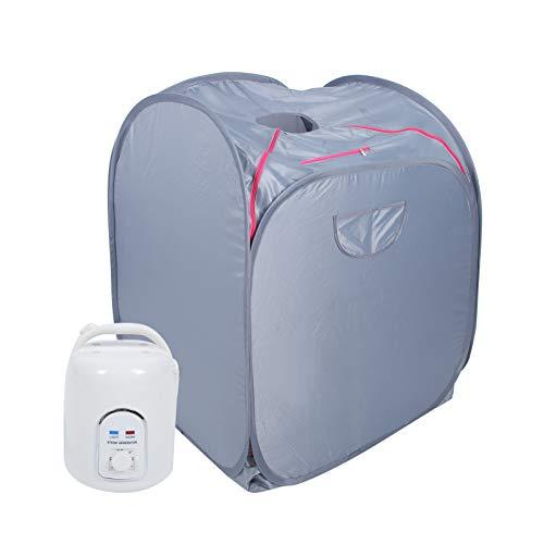Schweißdampfer, Saunazelt, 21D Oxford-Stoff-Saunabox, 1,5 l zeitgesteuert 850 W Faltbar für mehr Schlafqualität Förderung des(220V, European Standard)