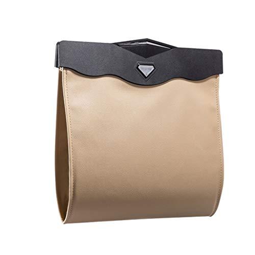 Hong Yi Fei-Shop papeleras Bote de Basura Plegable Resistente del Coche Que cuelga el Bolso de Basura Plegable (Color : Brass)