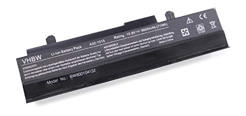 vhbw Akku für Asus Eee PC 1215 1215B 1215N pu17 1215P 1215PE 1215PED 1215PEM 1215PN 1215PW 1215T Notebook Laptop wie A32-1015 - Li-Ion, 6600mAh, 10.8V