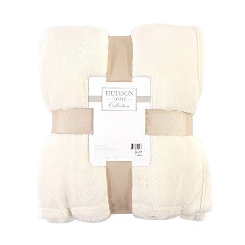 Hudson Baby Home Silky Plush Blanket, Cream Fleece, 50X60 in. (Throw) (59244)