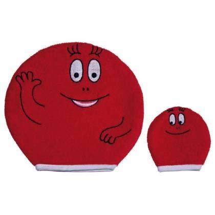 Paris-stock - Barbapapa Gant de Toilette 18,5 x 19 cm (Rouge)