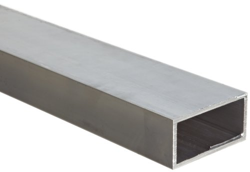 Aluminum 6063-T52 Rectangular Tubing, ASTM B221, 1' x 2', 0.065' Wall, 72' Length