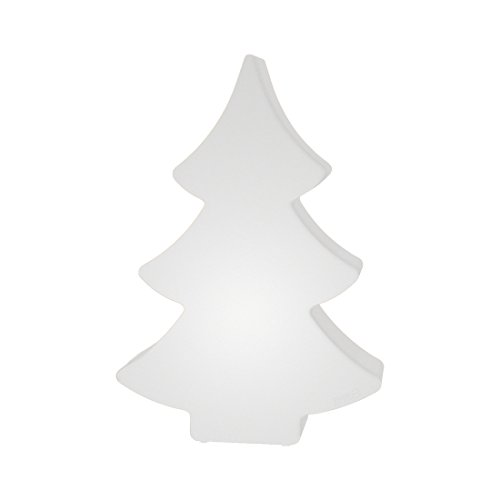 8 seasons design - Designleuchte LED Tannenbaum Shining Tree (78 cm groß, multicolor, dimmbar, Farbwechsel, Fernbedienung, IP44, Indoor & Outdoor) weiß