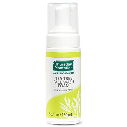 Thursday Plantation Tea Tree Face Wash Foam, Gentle Soap-Free Skin Cleanser, 5.1 fl oz