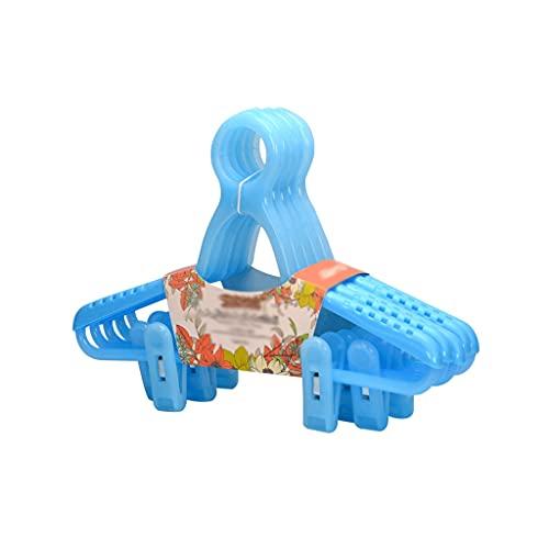 AWYST Perchas Perchas De Ropa para Niños Ropa De Bebé Perchas Retráctiles Hebilla A Prueba De Viento Perchas Multifuncionales Racks Organizador (Color : Blue)