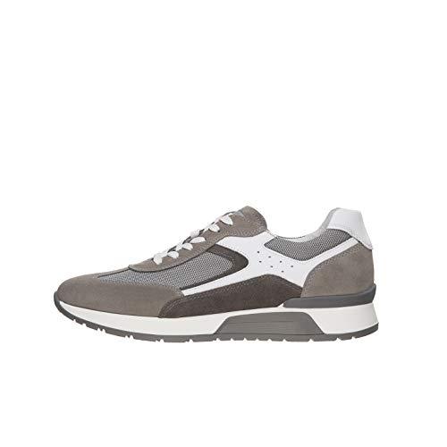 Nero Giardini E001483U Sneakers Uomo in Pelle, Camoscio E Tela - Fumo 42 EU