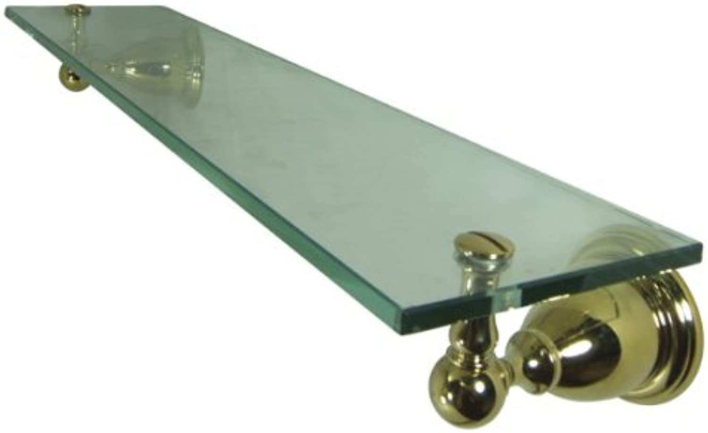 Kingston Brass BA1759PB Heritage Glass Shelf, Polished Brass