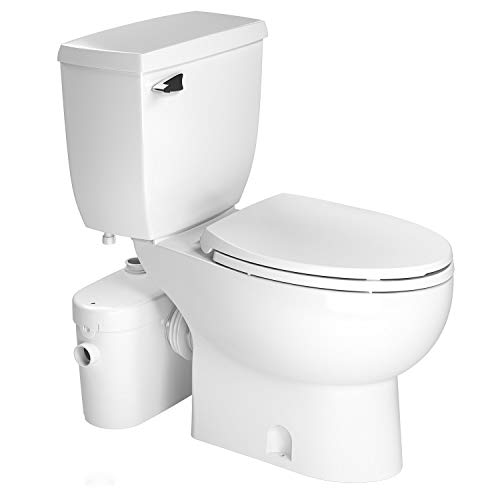 SANIFLO SANIACESS2 MACERATOR PUMP + ELONGATED TOILET KIT, WHITE FINISH