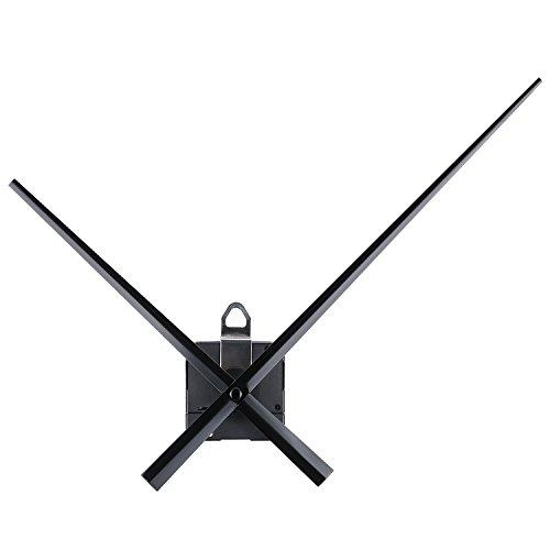 WILLBOND High Torque Uhrwerk Bewegung mit 20 mm/ 0,8 Zoll Schaftlänge Lange Hände 243 mm/ 9,6 Zoll für DIY Wanduhr
